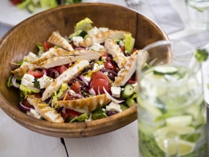 frisse salade met kip